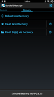 Screenshot of Nandroid Manager * ROOT
