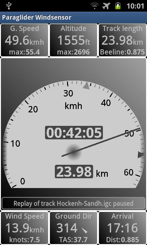 Paraglider Dashboard- screenshot