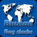 Bhutan flag clocks icon