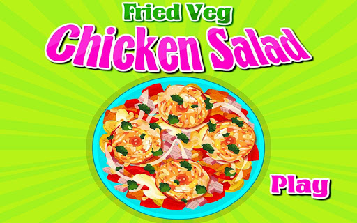 Fried Chicken Salad Cooking