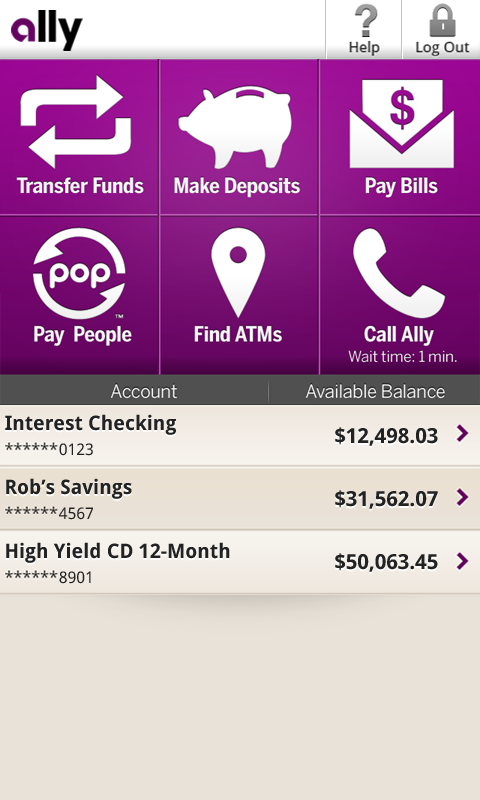 Ally Mobile Banking - screenshot