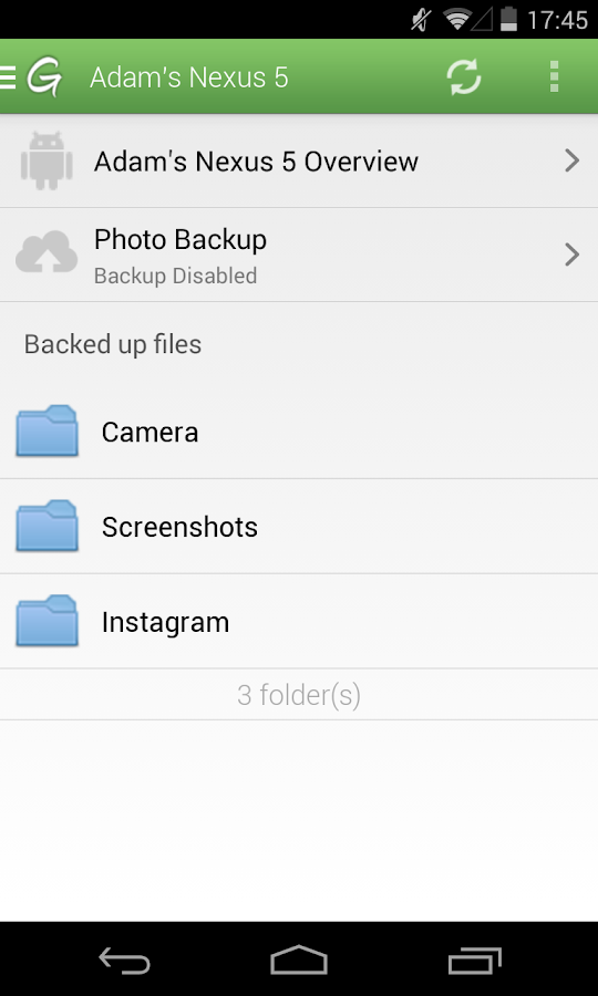 Backup Genie- screenshot