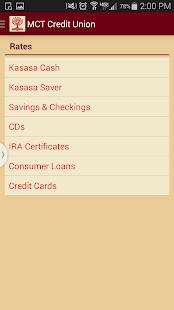Mct Credit Union Screenshot Thumbnail