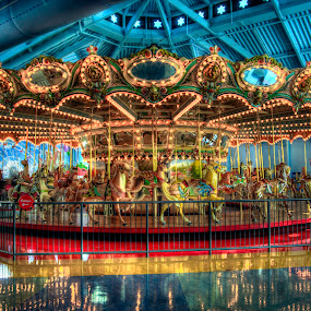 Carousel  by David Kawchak - Artistic Objects Industrial Objects ( antique carousel, kids carousel, philadelphia carousel, lighted carousel, carousel )