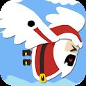 A Christmas Santa logo