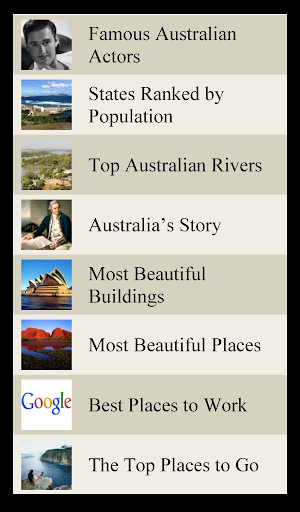 World Travel Lists - AUSTRALIA