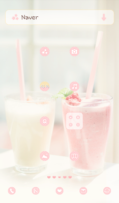 strawberry vanilla dodol theme - screenshot