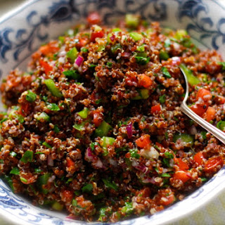 Red Quinoa Tabbouleh Salad