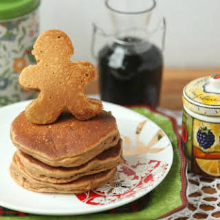 Low fat Gingerbread Pancakes.