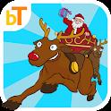 Trineo de Papa Noel en Navidad icon