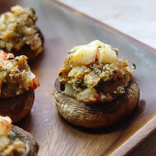 Crab & Herb Stuffed Mushrooms.