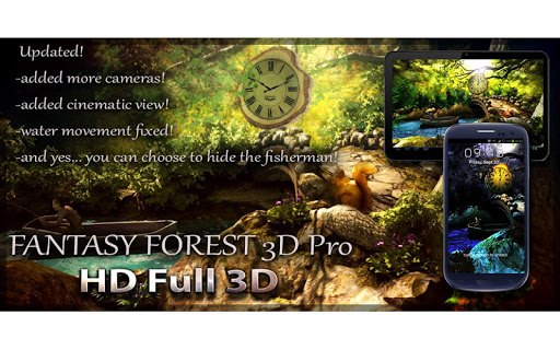 Fantasy Forest 3D Pro lwp app for Android screenshot