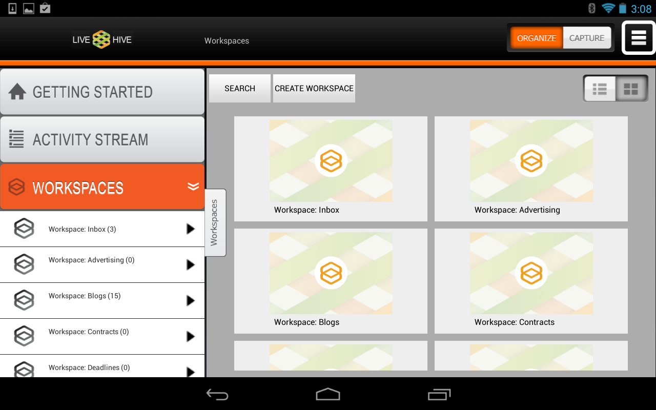 LiveHive Tablet- screenshot