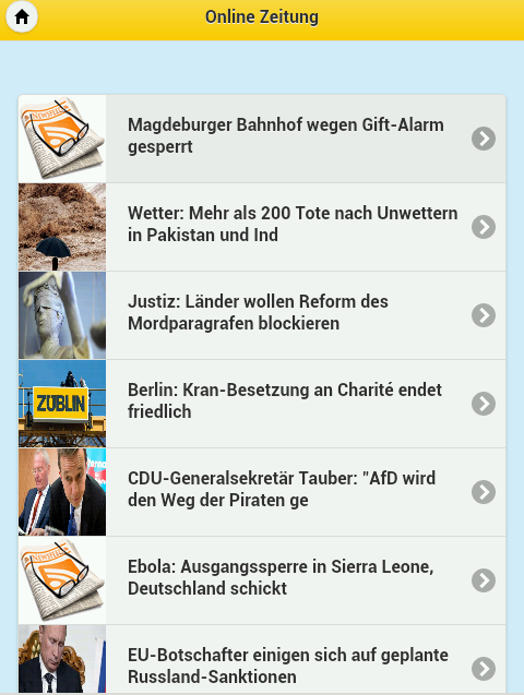 Online Zeitung - screenshot