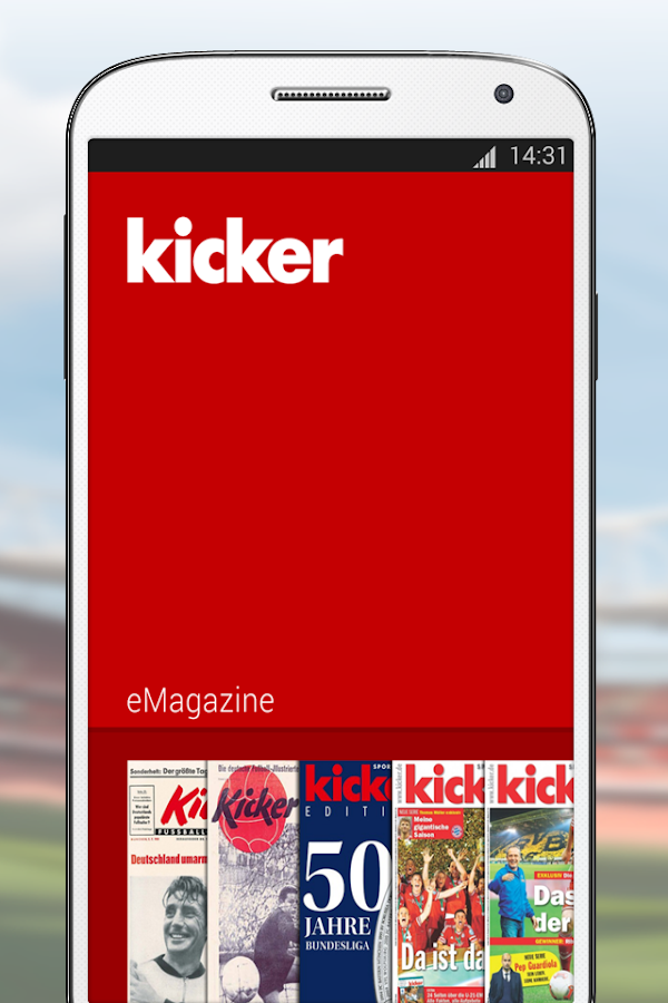 kicker eMagazine – Screenshot