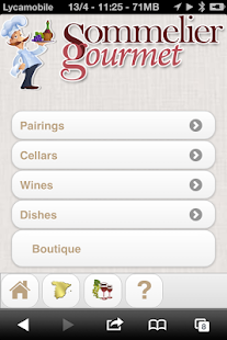 Sommelier Gourmet- screenshot thumbnail