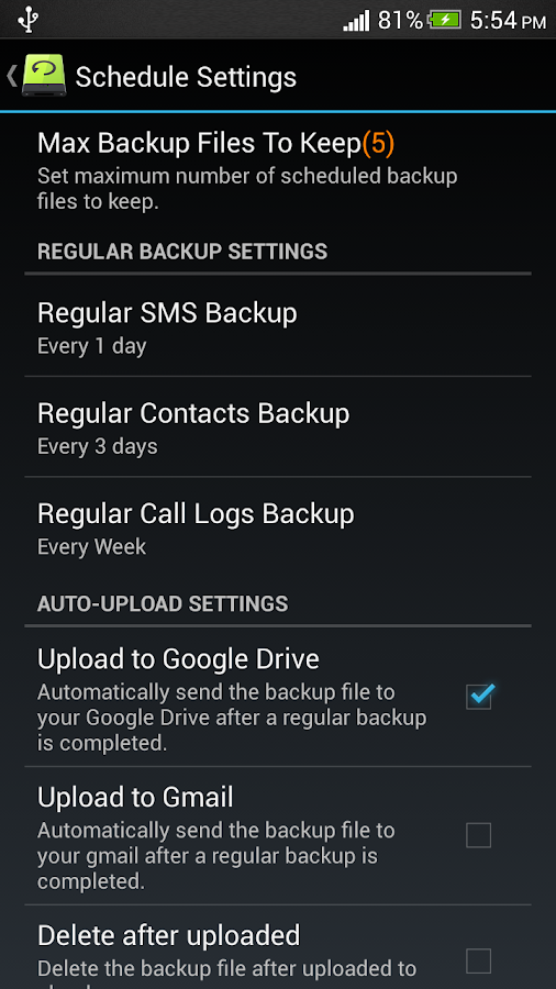 Super Backup : SMS & Contacts - screenshot