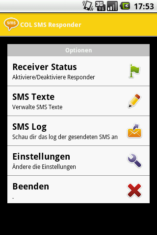 COL SMS Responder - screenshot