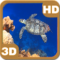 Turtle Swimming Coral Reef HD icon