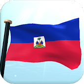Haiti Flag 3D Free Wallpaper