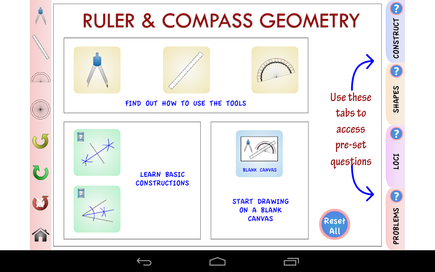 maths teaching guide geometrical constructions Geometry construction reference this guide was originally written for my own geometry students these instructions can be found in most elementary geometry books, but it might be more convenient to have them all in one place, rather than scattered throughout the book.