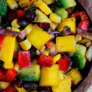 Chipotle Mango Salsa with Black Beans, Avocado & Sweet Corn.
