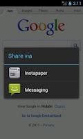 Screenshot of Integrate Instapaper