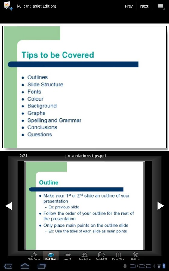 i-Clickr (Tablet Edition)- screenshot