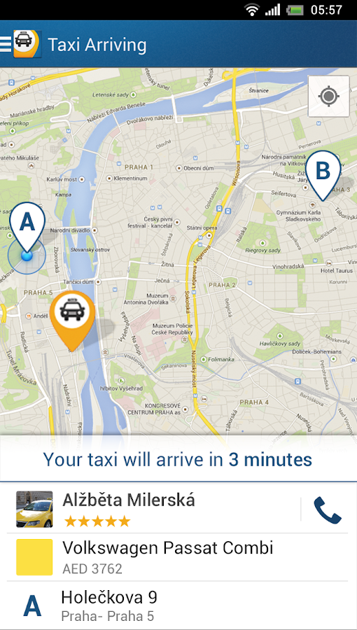 Liftago Taxi - screenshot