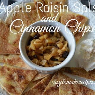 Apple Raisin Salsa and Cinnamon Chips.