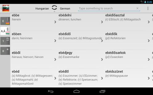 Free Dict Hungarian German - screenshot thumbnail