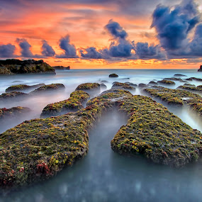 floating stone by Agus Eka Kurniawan - Landscapes Waterscapes