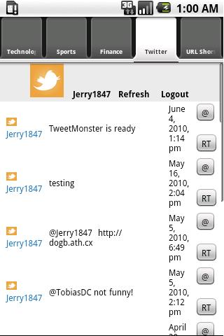 TweetMonsterRSSPro - screenshot