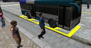 Screenshot of 3D City driving - Bus Parking