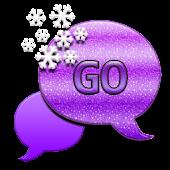 GO SMS THEME/GlitterSnowFlak