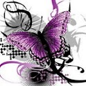 Sparkling Purple Butterfly logo