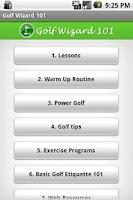 Screenshot of THE Golf App