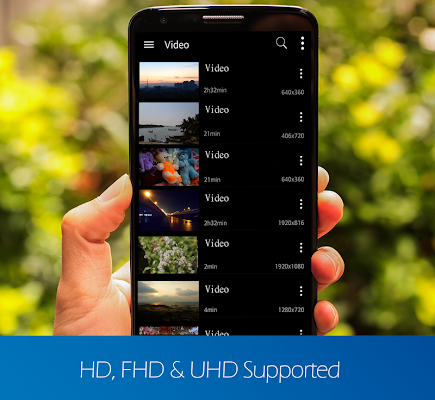 video player for android - screenshot