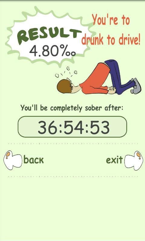 Blood Alcohol Calculator+TIMER - screenshot