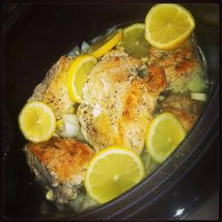Slow Cooker Lemon and Thyme Chicken.
