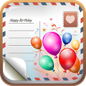Greeting cards, birthday cards icon