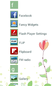 Launcher 8 theme:Flowers screenshot 1