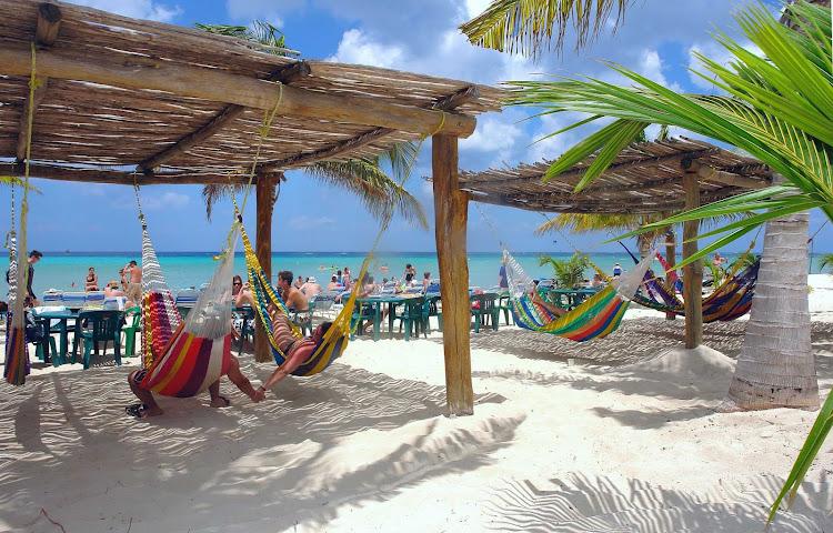 Grab a hammock for an afternoon siesta on Cozumel.