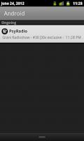 Screenshot of PsyRadio