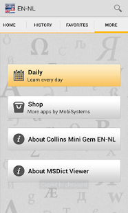 English<>Dutch Mini Dictionary - screenshot thumbnail
