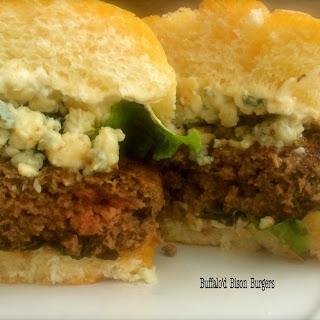 Buffalo'd Bison Burgers.