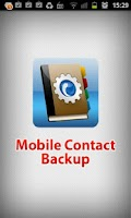 Screenshot of Mobile Contact Backup