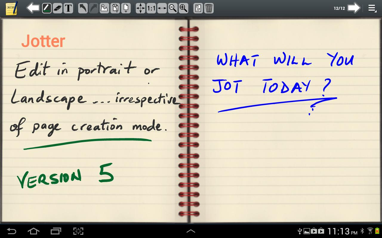 Jotter (For Galaxy Note) - screenshot