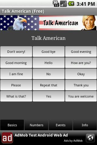 Talk American (Free)- screenshot