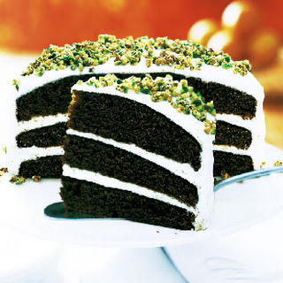 Gingerbread Layer Cake with Cream Cheese Frosting and Candied Pistachios.